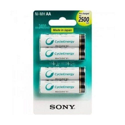 Sony Cycle Energy 2500mAh NH-AA-B4GN 2A AA NiMH Rechargeable Battery 4pcs www.gadgetmou.com www.smart-gadget.shop