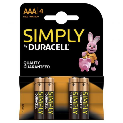 DURACELL AAA SIMPLY 4Pcs www.gadgetmou.com www.smart-gadget.shop
