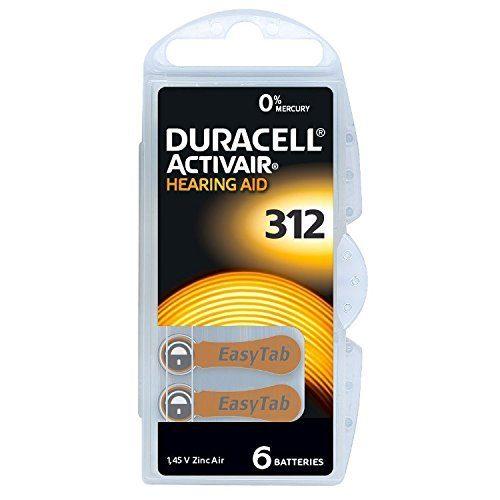 Duracell Size 312 Hearing Aid Batteries 6Pcs www.gadgetmou.com www.smart-gadget.shop