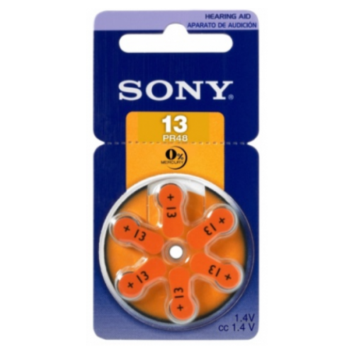Sony Batteries for headphone 280mAh (PR48) 6Pcs www.gadgetmou.com www.smart-gadget.shop