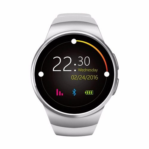 Smartwatch KW18 Bluetooth SIM Card 3G, GPS Silicone bracelet black and withe2