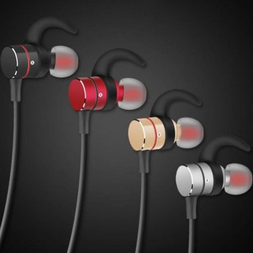 Headphone SQ-BT700 Magnet Metal Sports, Bluetooth Headset V4.2 Stereo Waterproof Headset red
