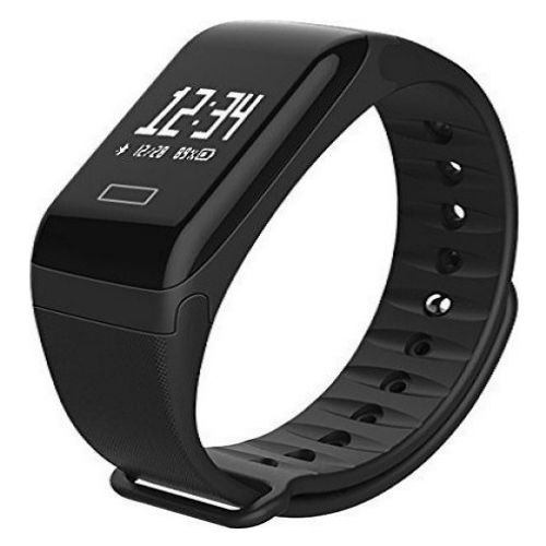 Smart Sport Fitness bracelet F1 Gadget mou BP-HR with blood pressure and heart rate monitor Black 2