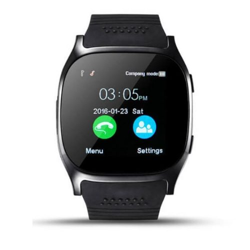 Smart Watch T8, 1.54 inch IPS Screen 6261D260MHz, 0.3MP Camera, Support GSM & Dial & Pedometer & Anti-lost & Sleep Monitor & Remote Camera & FM Radio(Black, White, Blue.Gadgetmou.com 1