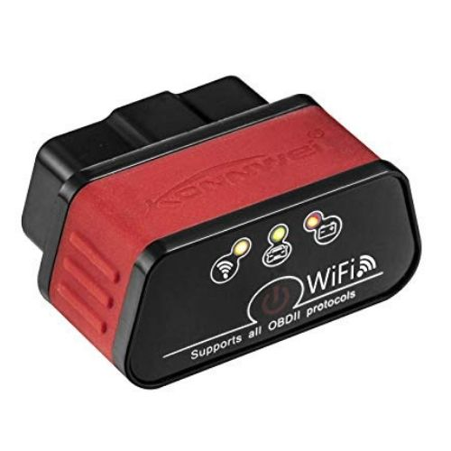 KONNWEI KW903 Auto code reader scanner Tool,WiFi OBD2 BT4 0 OBDII for IOS &  Android & Windows ,Red