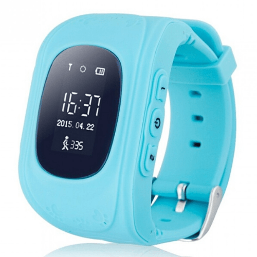 Smartwatch Hello Q50, GPS tracker + SOS call for Kids, Anti-Lost Monitoring, Blue Gadget mou