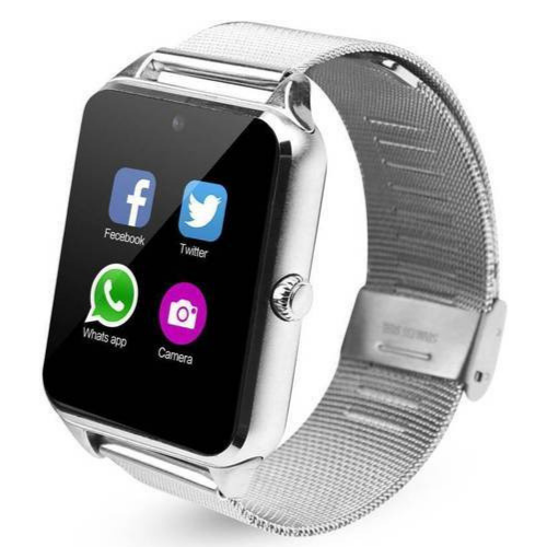 Smartwatch Z60 Social media App, Bluetooth, Pedometer, Sedentary, Remind, TF Card GSM, Camera, Fitness Bracelet IP67, High quality metal steel, for IOS & Android Phone #gadgetmou m