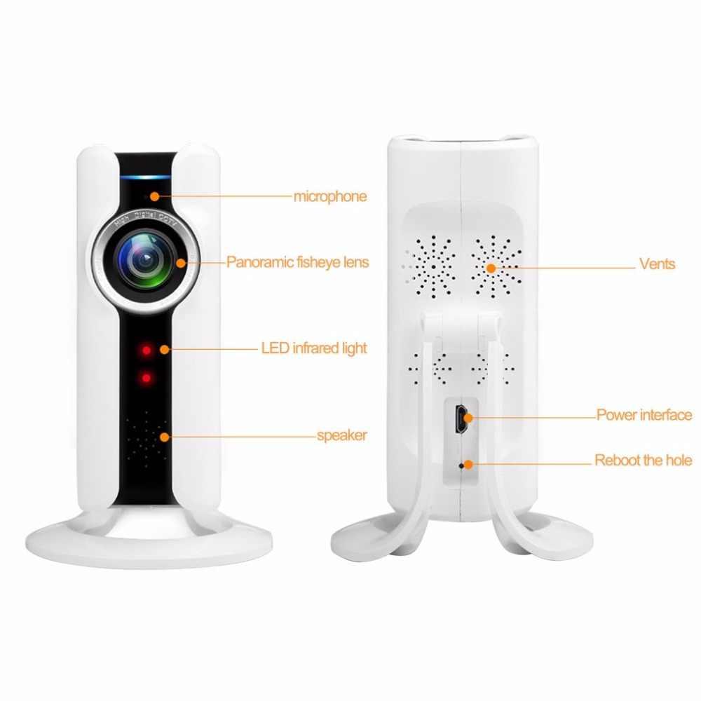 1 180° Panoramic Fisheye IP Camera Wifi, Security Surveillance Camera VR CAM JORTAN VR3D-2