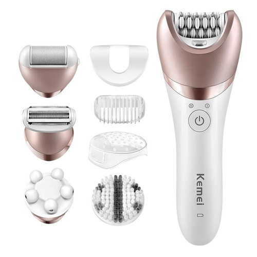 5 In 1 Beauty Tools Kit Lady Hair Remover Kemei KM-8001, Cleanses Skin Pore Deep www.gadgetmou.com