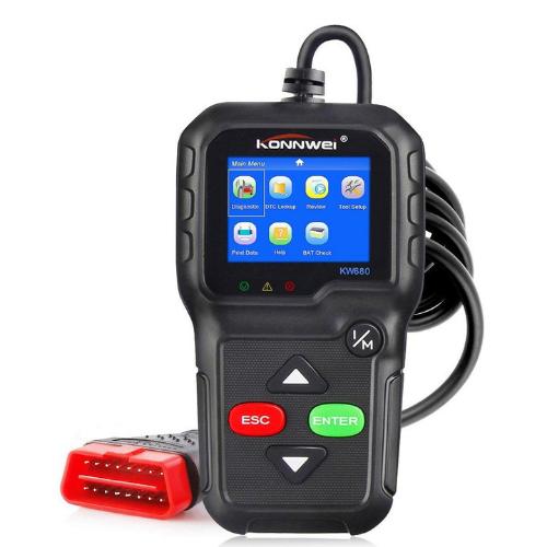 Car Diagnostics Konnwei KW680 Code Reader Tool ODB2 OBDII OBD2 Auto Scanner Engine Check LED Display Built-in Speaker Gadget mou