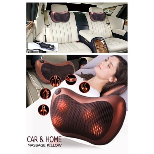 Car & Home Massage Pillow CHM 8028 Multifunction Electric Full Massage Portable CarOffice Chair A-Zone Japanese Heated & Magnetic therapy For Neck Shoulder Back Body Massage www.gadgetmou.com 2