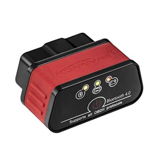 KONNWEI KW903 Auto code reader scanner Tool, Bliuetooth OBD2 BT4.0 OBDII for IOS & Android & Windows ,Red www.gadgetmou.com