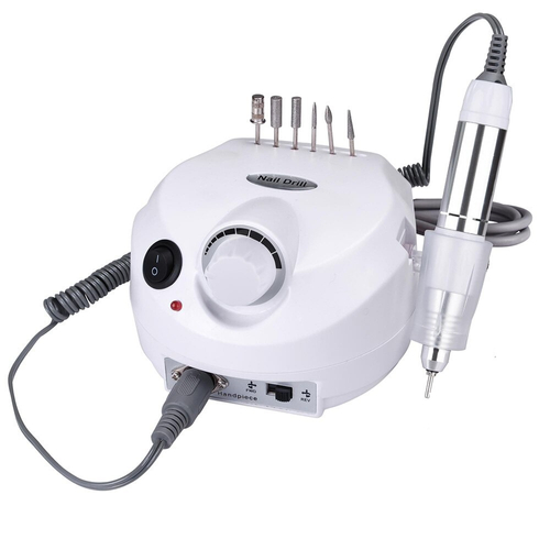 Nail Drill Machine ZS-601 PRO 30000 Rpm, Professional and Portable Electric Manicure & Pedicure Nail Drill Set 15W White
