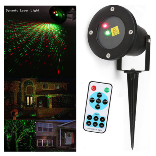Night-time Lighting Outdoor Projector Stage Laser Light RF ,Remote control waterproof Photorhythmic Laser G2676 for Party, Christmas & disco light