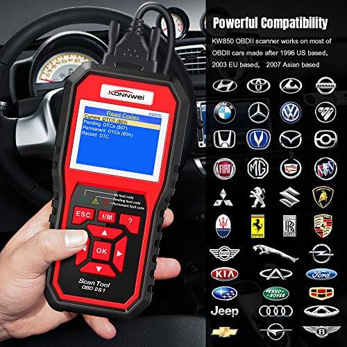 Origina KONNWEI KW850 OBDII Scanner Automotive Diagnostic Tool AL519 Full Function Car Code Reade EOBD Engine Scanner LCD screen www.gadgetmou.com 1