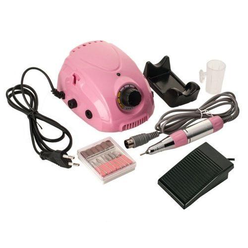 Professional Manicure & Pedicure Wheel, Nail Drill DM-212 30W Pink, Nail Polisher 30000 RPM 6 pieces Nozzles www.gadgetmou.com