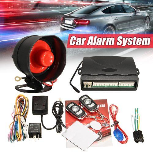 gadgetmou.com Car Alarm System CAS-102YW BOJECHER Siren, Anti Shock, Central Lock, Engine Cut-off, Vibration Record, Auto Flashing, Two Remote controls