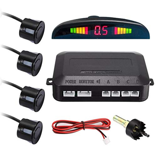gadgetmou.com Easy to install Premium Parking Sensor System G6001 Car Distance Detection System for all cars Reverse Assistance Backup Radar Monitor System