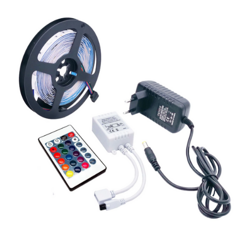 www.gadgetmou.com Led Strip Set with Remote Control 3528 12V IP65 RGBW 5m 2