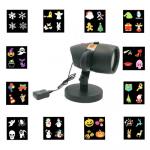www.gadgetmou.com SLIDE SHOW Christmas Decorative Lights 12 Slides Full Colour LED, Dazzling Design Laser Night Projector For