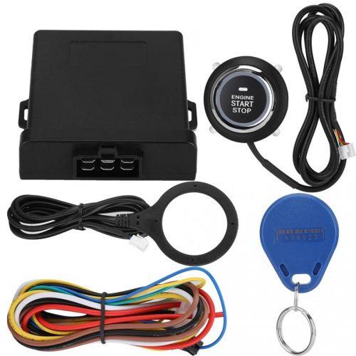 Car Engine Smart Start Button, 3-5CM Push Start Stop Anti-theft Alarm System/RFID Engine Lock