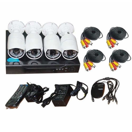 DVR COMBO KIT Surveillance Cameras JORTAN-6145AHD-4 Full CCTV AHD Security Recording System, Hard Drive Storage PTZ 24 Hours running H.264 CMS HDMI Remote Control web & Mobile Support Gadgetmou