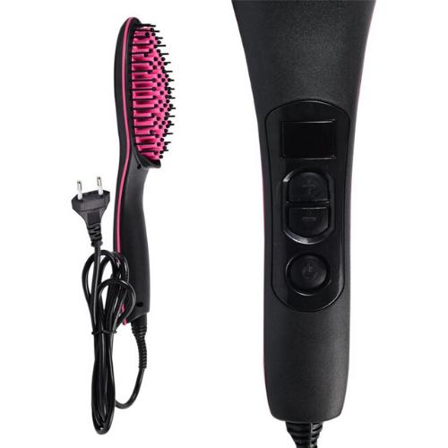 Fast & Easy Straight artifact HQT-906B Ceramic Straighten Hair Brush 450F Gadgetmou
