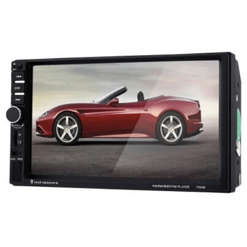 7060B 7-inch Screen Car Audio Stereo MP5 Player with Camera - Black with camera