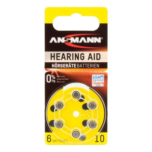 Ansmann Hearing Aid batteries Type 10 / PR70