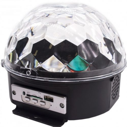 Crystal Magic Ball Light MP3 microSD USB Connectors & Bluetooth YB-M9 LED Photorhythmic Discs Music Speaker