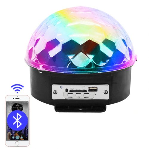 Crystal Magic Ball Light MP3 microSD USB Connectors & Bluetooth YB-M9 LED Photorhythmic Discs Music Speaker