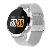 Fitness Band Ant Q8 Silver Metal Wristlet Heart Rate Monitor Smartwatch For IOS & Android gadgetmou