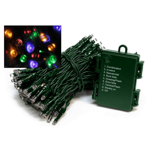 200 Christmas LED Lights With 8 Multi-Action Light Sequences