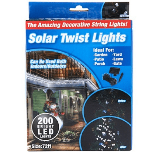 Tekno 200 Bright LED Solar Twist String Fairy Lights Perfect for Christmas Decoration TEK186
