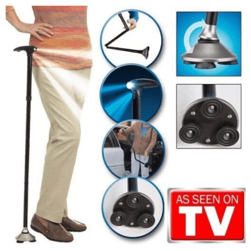 Trusty Cane - Sturdy Folding Cane with Built-In Lighst As Seen on TV
