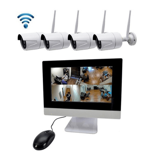 4 Wireless weatherproof Camera CCTV JORTAN K9504-W With Wireless Monitor NVR - Mobile Viewing
