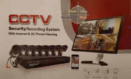 8 Aprica Cameras Full CCTV B00VKCT7V0 System Black 3G Phone Viewing