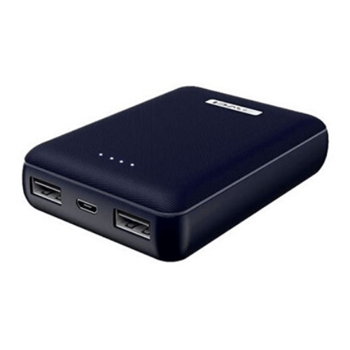 Awei P22K Power bank 10000mAh With 2 USB Charging Ports And High-Speed Charging - Dark Blue