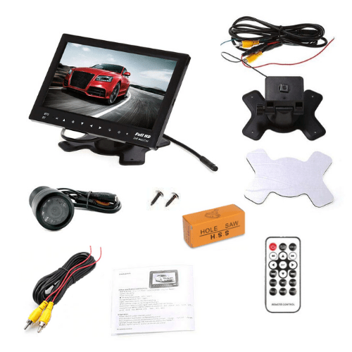 Car Monitor MC726B-1 With Rear Camera, 7-Inch Touch Monitor Bluetooth TF USB MP5 with Remote Control support Video Audio Player Gadget mou