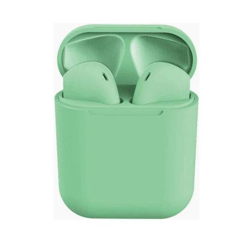 Earphone Bluetooth inPods 12 Green Gadgetmou