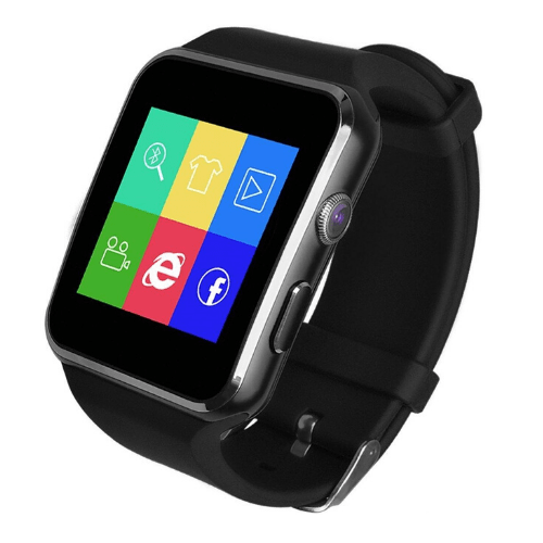 Greek Language X6 Smartwatch Black Gadget mou