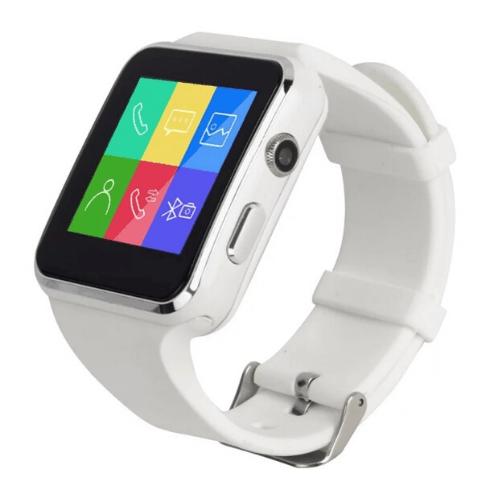 Greek Language X6 Smartwatch White Gadget mou