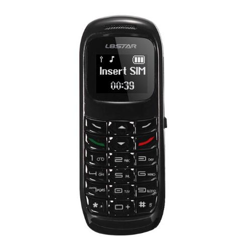 Ultra Mini Κινητό Τηλέφωνο & Bluetooth Ακουστικό Handsfree με δυνατότητα αλλαγής φωνής - L8STAR BM70 λευκό Μαύρο
