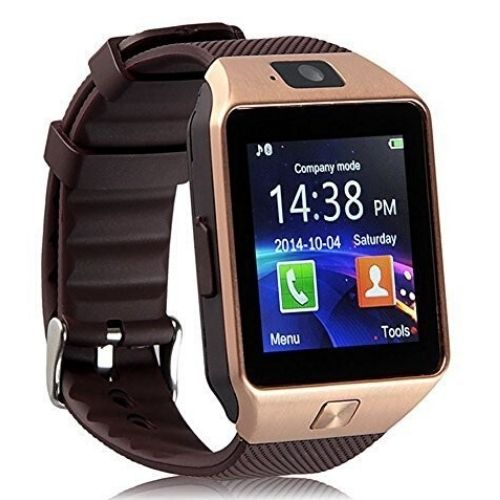 Smartwatch DZ09 Gold Sim card TF Camera Bluetooth Gadgetmou