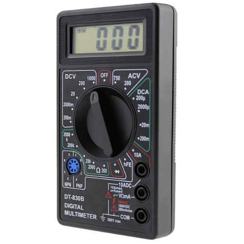 Plastic Multi-function Test Lead Manual LCD Auto Range Digital Handheld Multimeter - DT-830B