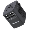 Awei Universal Travel Adapter With 4 USB Ports & Fast Charging - C36