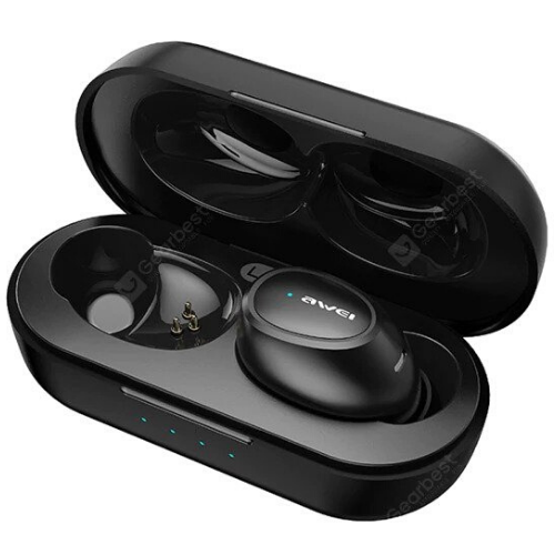 AWEI TWS T6C Bluetooth Earphone Wireless Charging Earbuds With Mic HiF - T6C(Black)