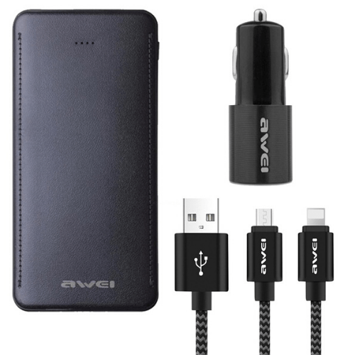 Awei 2 in 1 Dual Phone Charger and Powerbank Set X15
