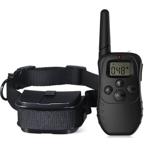Dog Training Stop Bark Collar LCD Display Remote 100 Levels - 998D