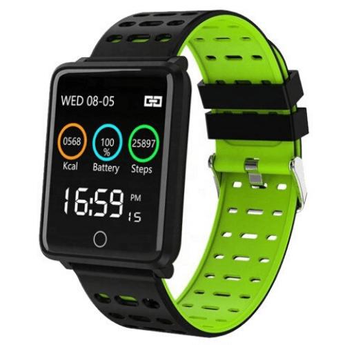 Αδιάβροχο ρολόι αθλησης παρακολούθηση υγείας F3 Πράσινο